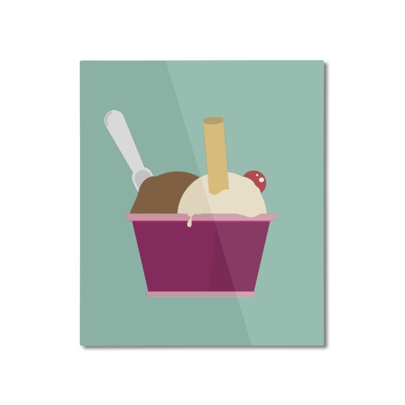 Sweet ice cream 12 Home Mounted Aluminum Print by virbia's Artist Shop