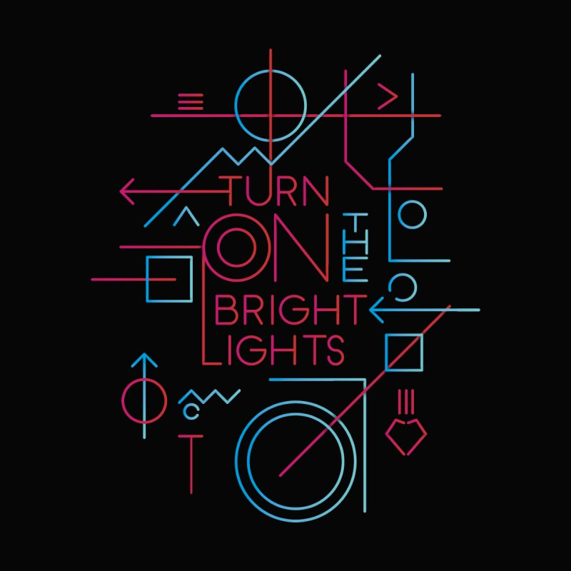 Turn on the bright lights Men's Longsleeve T-Shirt by virbia's Artist Shop