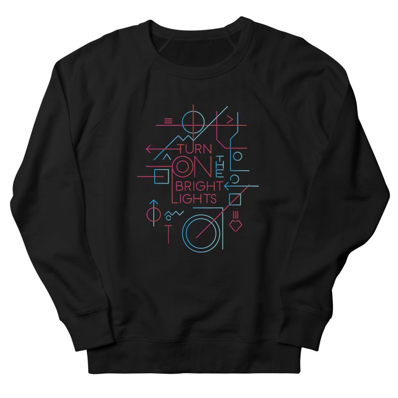 Turn on the bright lights Men's French Terry Sweatshirt by virbia's Artist Shop