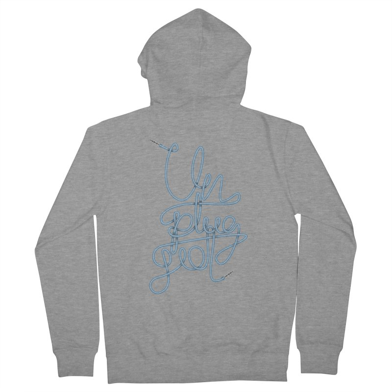 Unplugged music Men's French Terry Zip-Up Hoody by virbia's Artist Shop