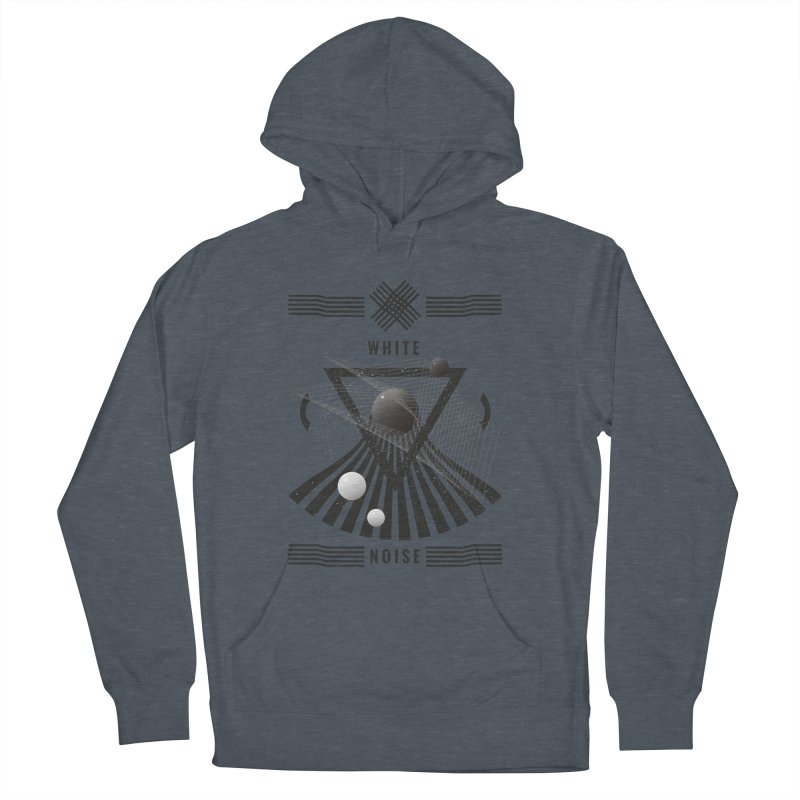 White noise music Men's French Terry Pullover Hoody by virbia's Artist Shop