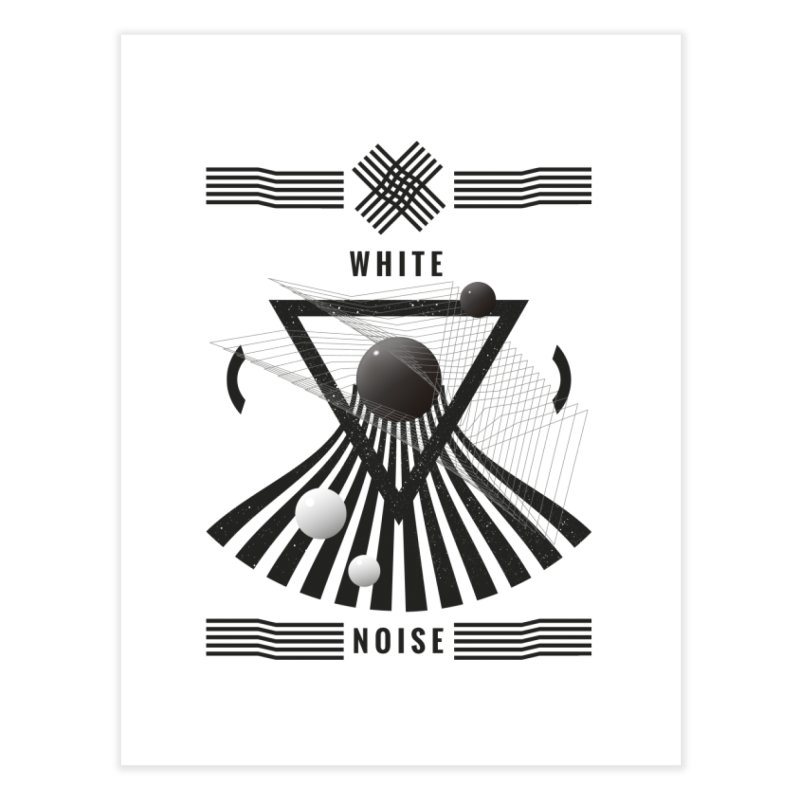 White noise music Home Fine Art Print by virbia's Artist Shop