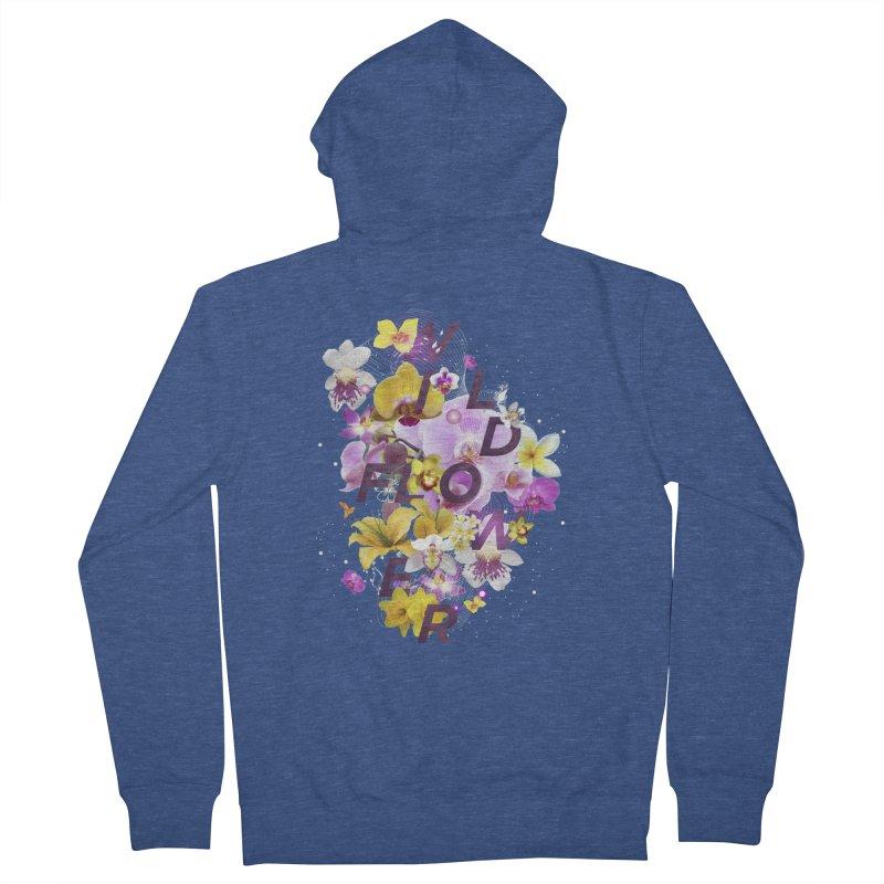 Wild Flower Men's Zip-Up Hoody by virbia's Artist Shop