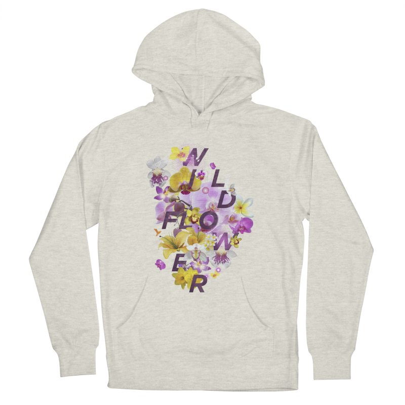 Wild Flower Men's French Terry Pullover Hoody by virbia's Artist Shop