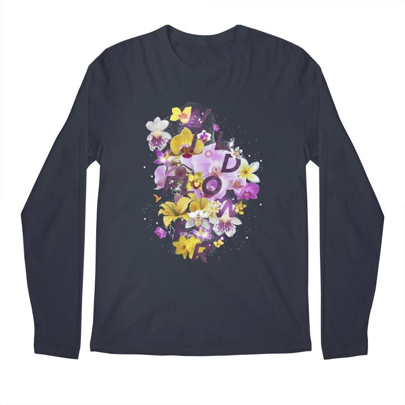 Wild Flower Men's Regular Longsleeve T-Shirt by virbia's Artist Shop
