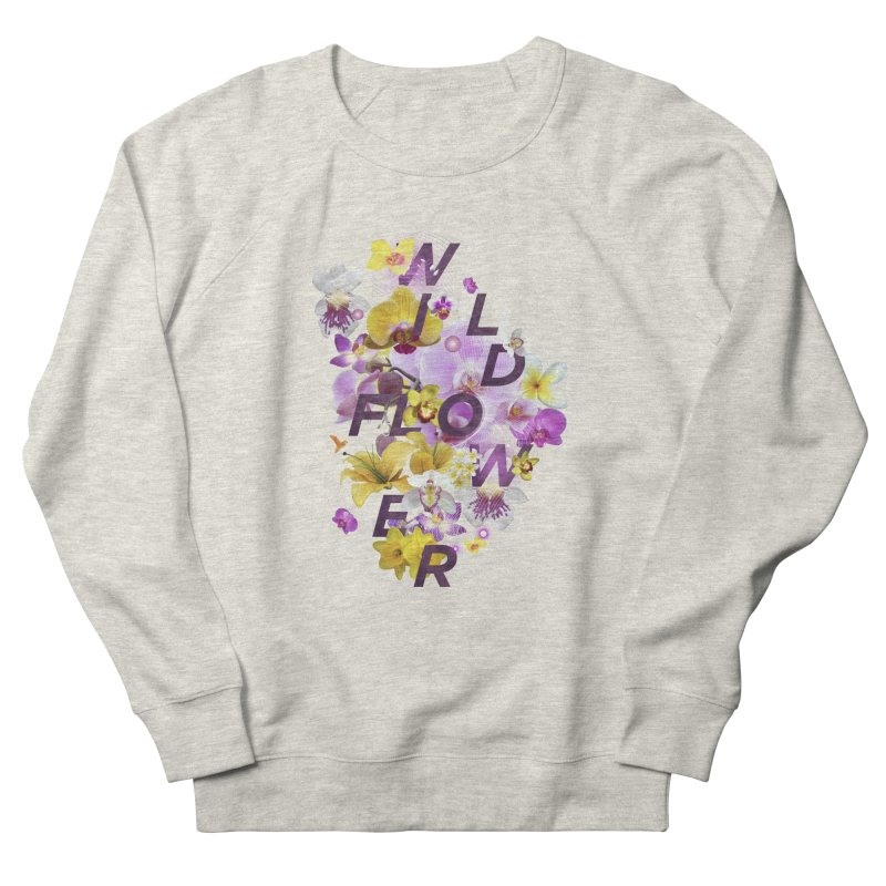 Wild Flower Men's French Terry Sweatshirt by virbia's Artist Shop