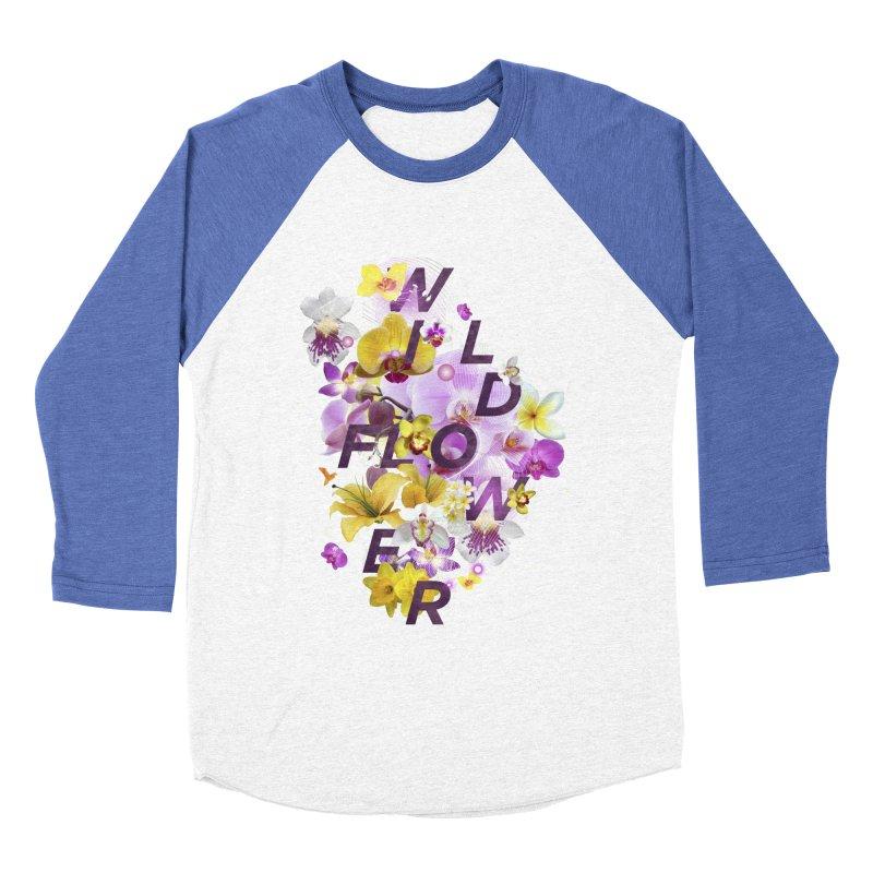 Wild Flower Women's Baseball Triblend Longsleeve T-Shirt by virbia's Artist Shop