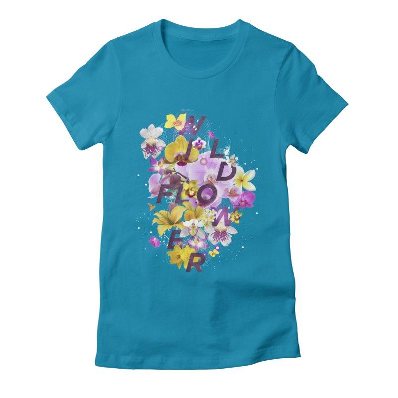 Wild Flower Women's Fitted T-Shirt by virbia's Artist Shop