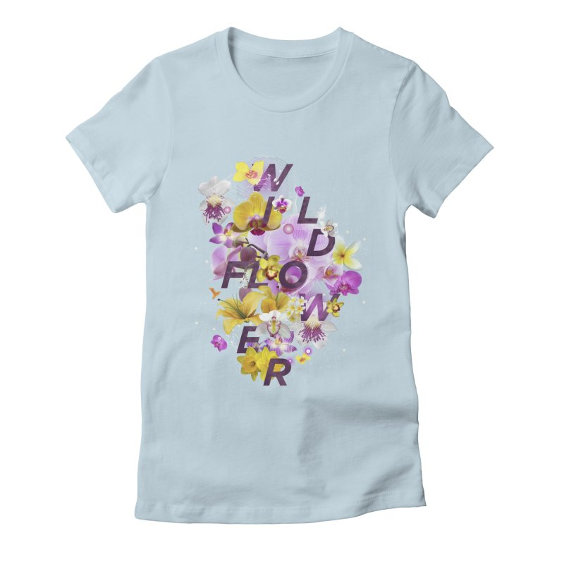 Wild Flower Women's Fitted T-Shirt by virbia's Artist Shop