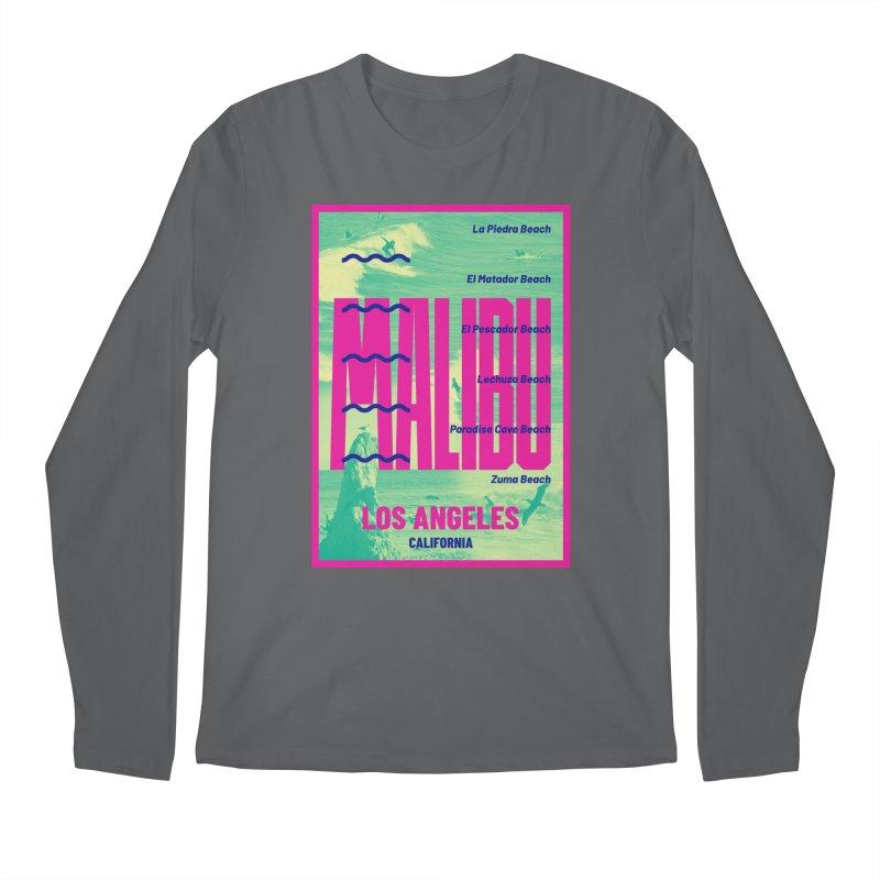 Malibu California beach Men's Longsleeve T-Shirt by virbia's Artist Shop