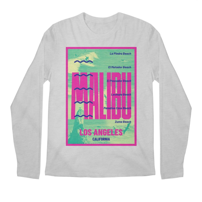 Malibu California beach Men's Regular Longsleeve T-Shirt by virbia's Artist Shop