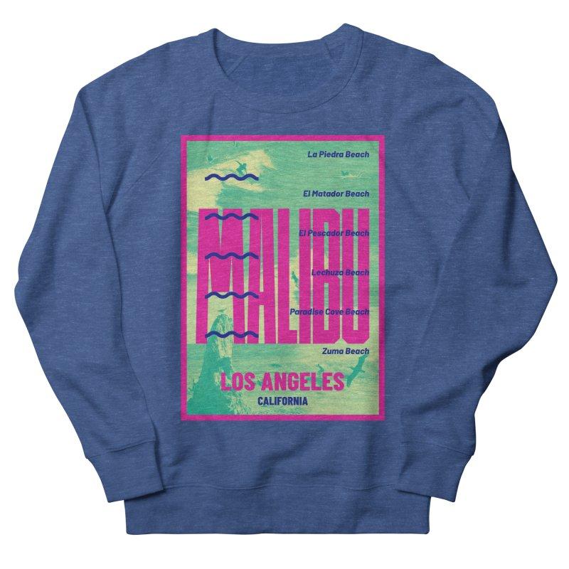 Malibu California beach Men's Sweatshirt by virbia's Artist Shop