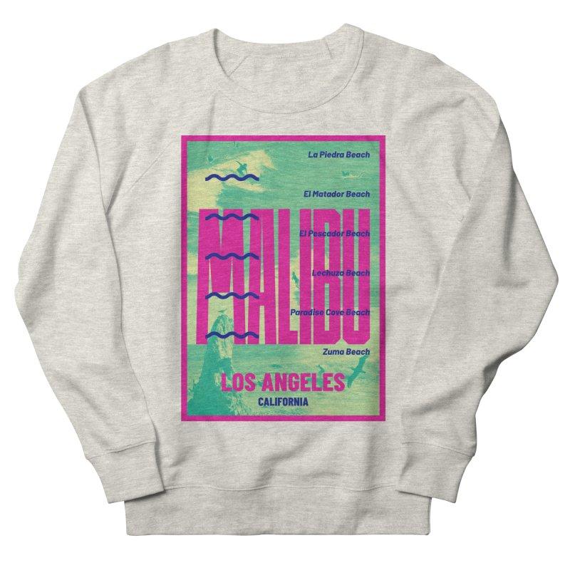 Malibu California beach Men's French Terry Sweatshirt by virbia's Artist Shop