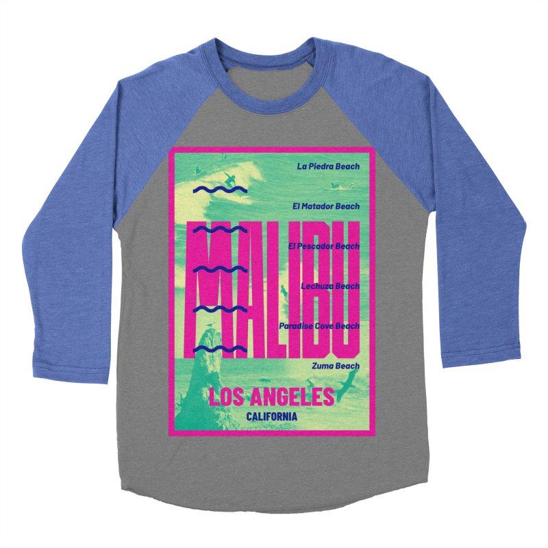 Malibu California beach Women's Baseball Triblend Longsleeve T-Shirt by virbia's Artist Shop