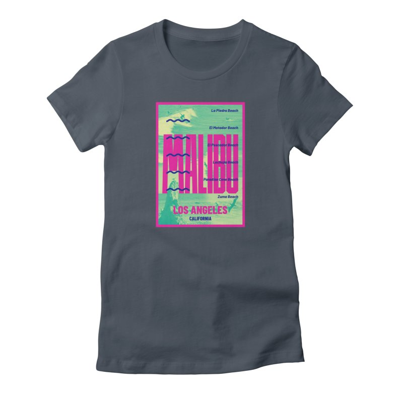 Malibu California beach Women's T-Shirt by virbia's Artist Shop