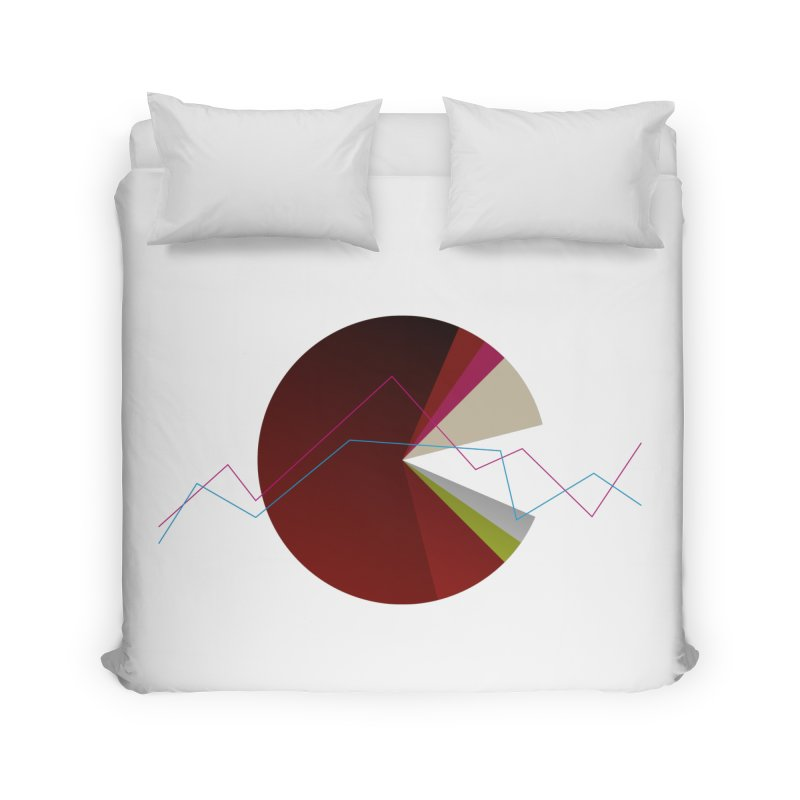 Statistic circle Home Duvet by virbia's Artist Shop