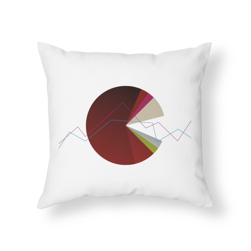 Statistic circle Home Throw Pillow by virbia's Artist Shop