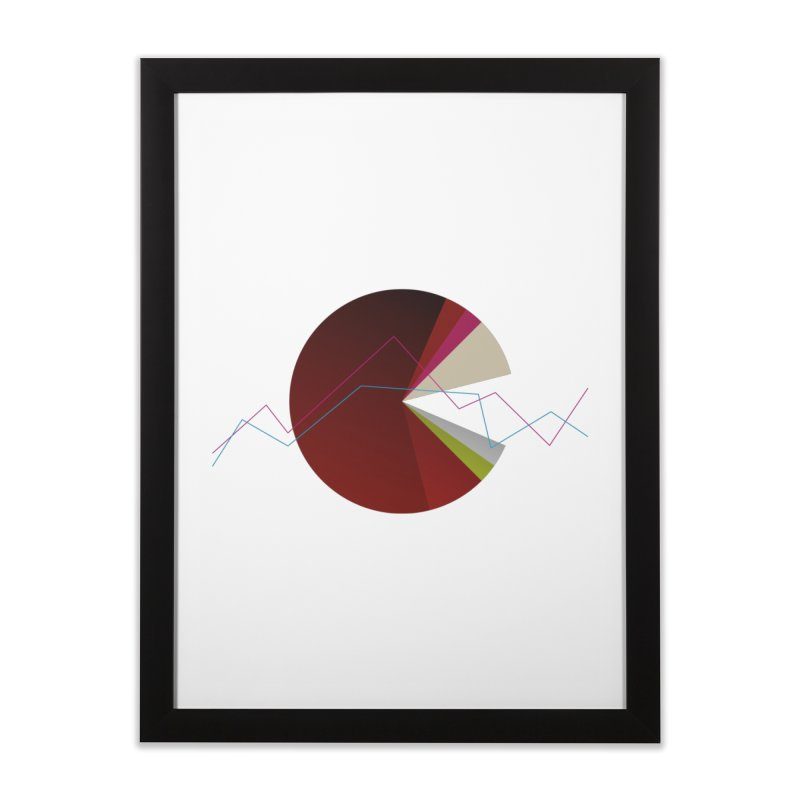 Statistic circle Home Framed Fine Art Print by virbia's Artist Shop