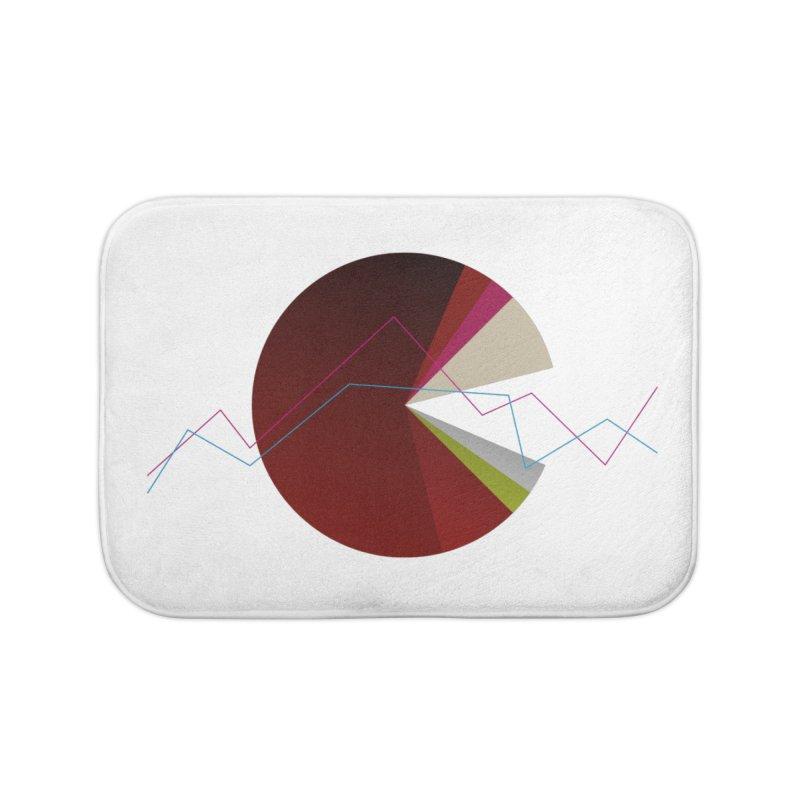 Statistic circle Home Bath Mat by virbia's Artist Shop