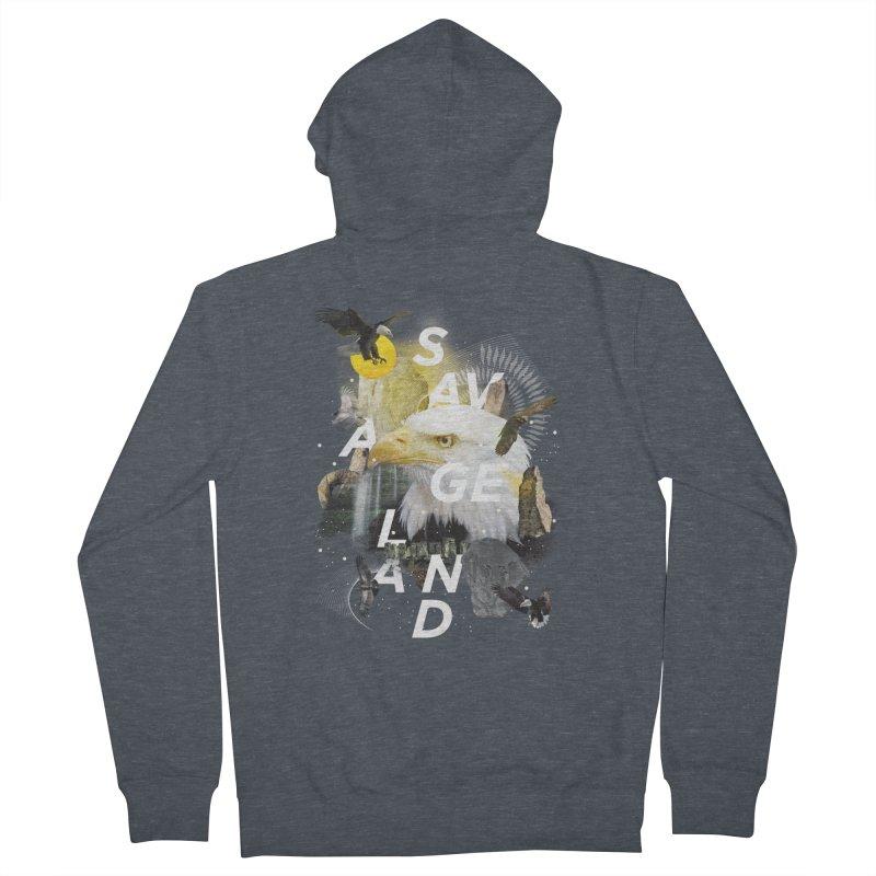 Savage Land Men's Zip-Up Hoody by virbia's Artist Shop