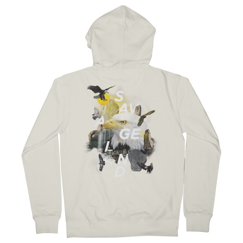 Savage Land Men's Zip-Up Hoody by virbia's Artist Shop