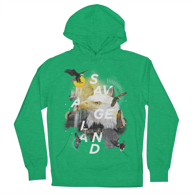 Savage Land Men's French Terry Pullover Hoody by virbia's Artist Shop