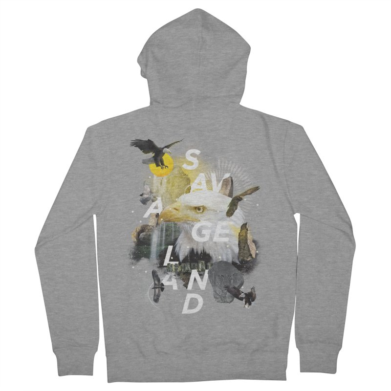Savage Land Men's French Terry Zip-Up Hoody by virbia's Artist Shop
