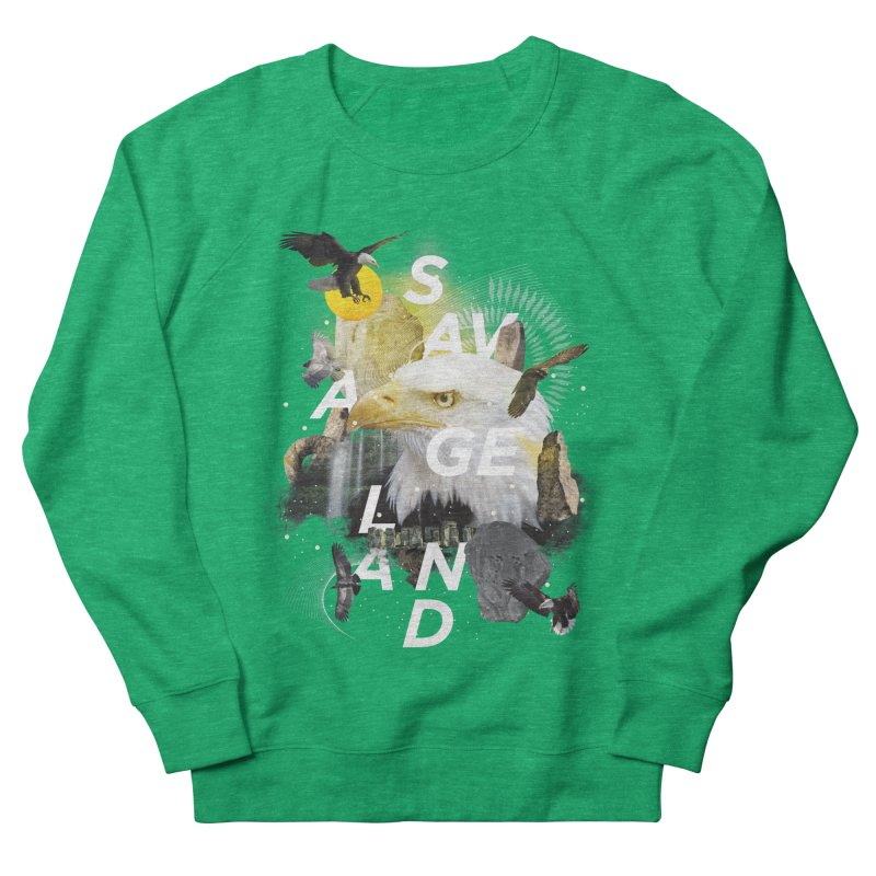 Savage Land Women's French Terry Sweatshirt by virbia's Artist Shop