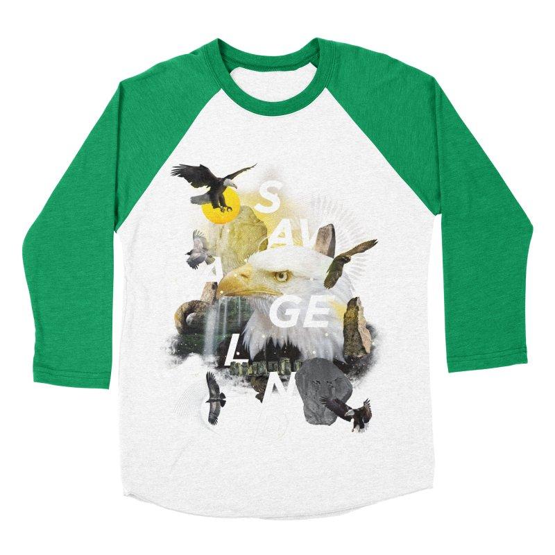 Savage Land Women's Baseball Triblend Longsleeve T-Shirt by virbia's Artist Shop
