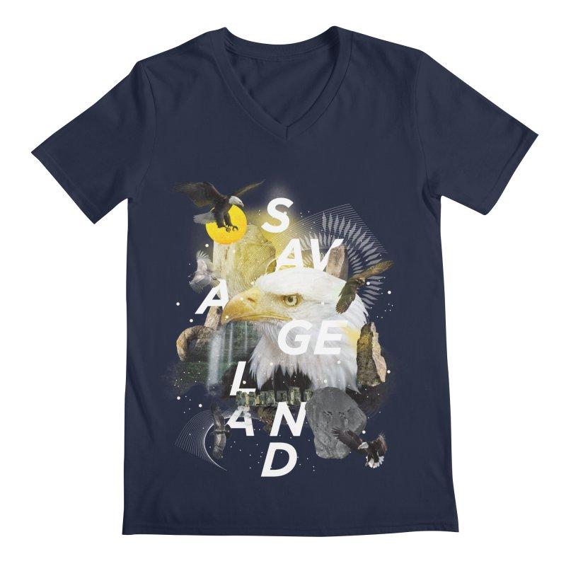 Savage Land Men's V-Neck by virbia's Artist Shop