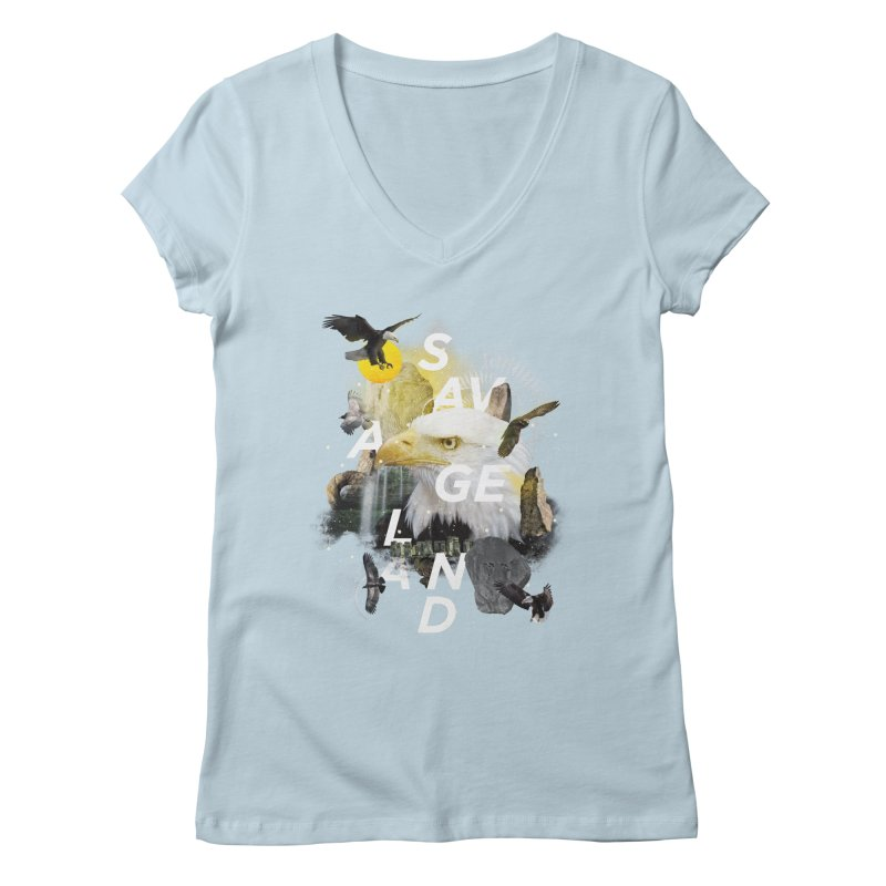 Savage Land Women's V-Neck by virbia's Artist Shop