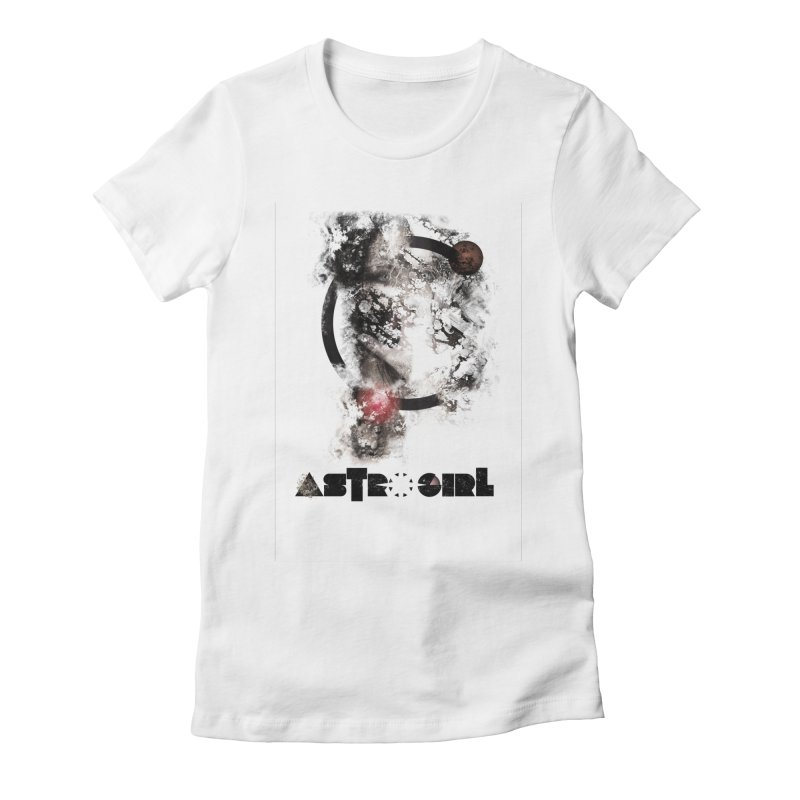 Astro Girl Women's Fitted T-Shirt by virbia's Artist Shop