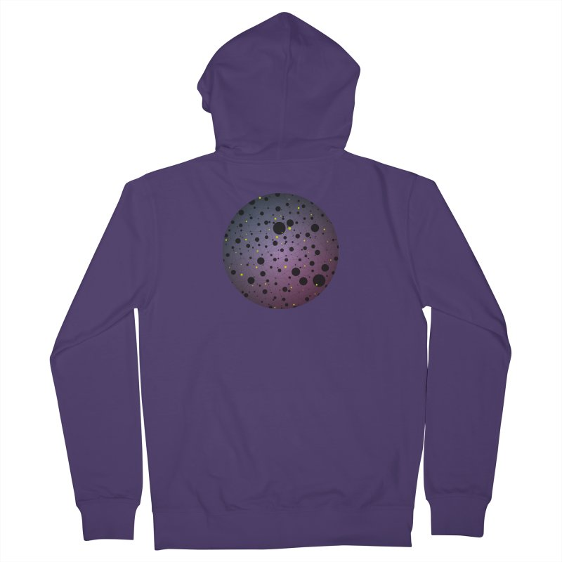Atomic Circle Women's French Terry Zip-Up Hoody by virbia's Artist Shop