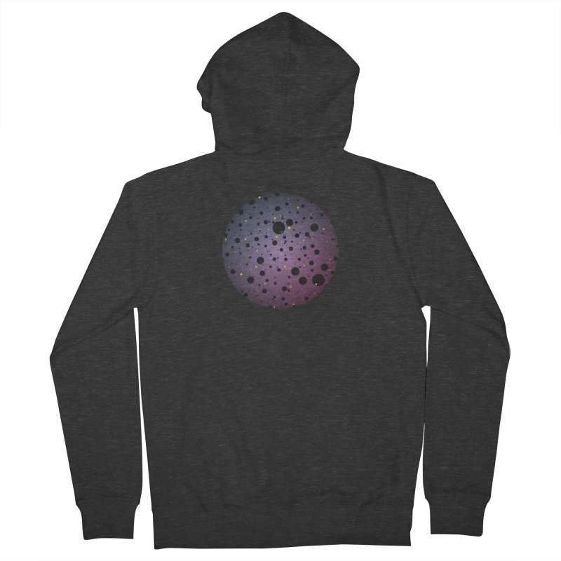 Atomic Circle Men's French Terry Zip-Up Hoody by virbia's Artist Shop