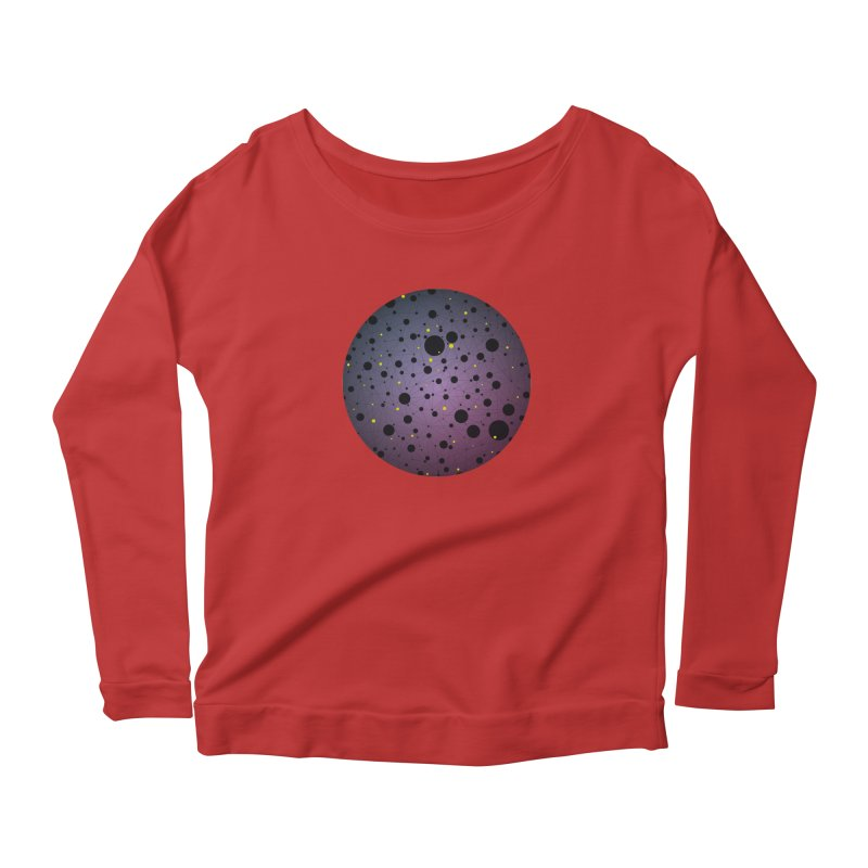 Atomic Circle Women's Scoop Neck Longsleeve T-Shirt by virbia's Artist Shop