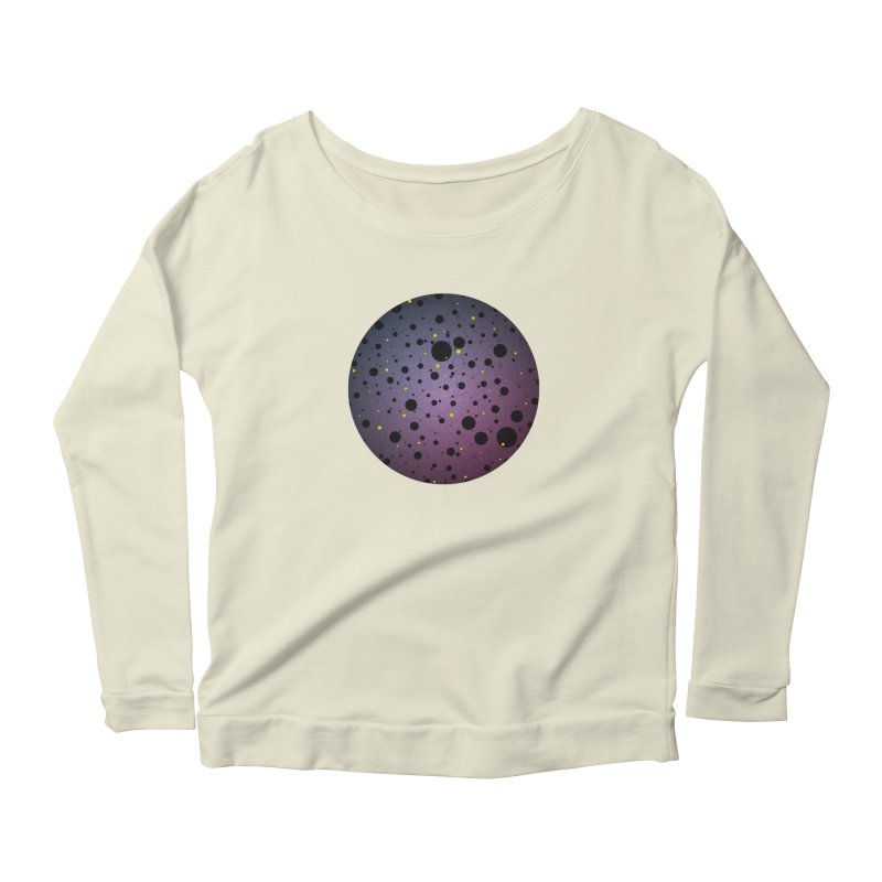 Atomic Circle Women's Scoop Neck Longsleeve T-Shirt by virbia's Artist Shop