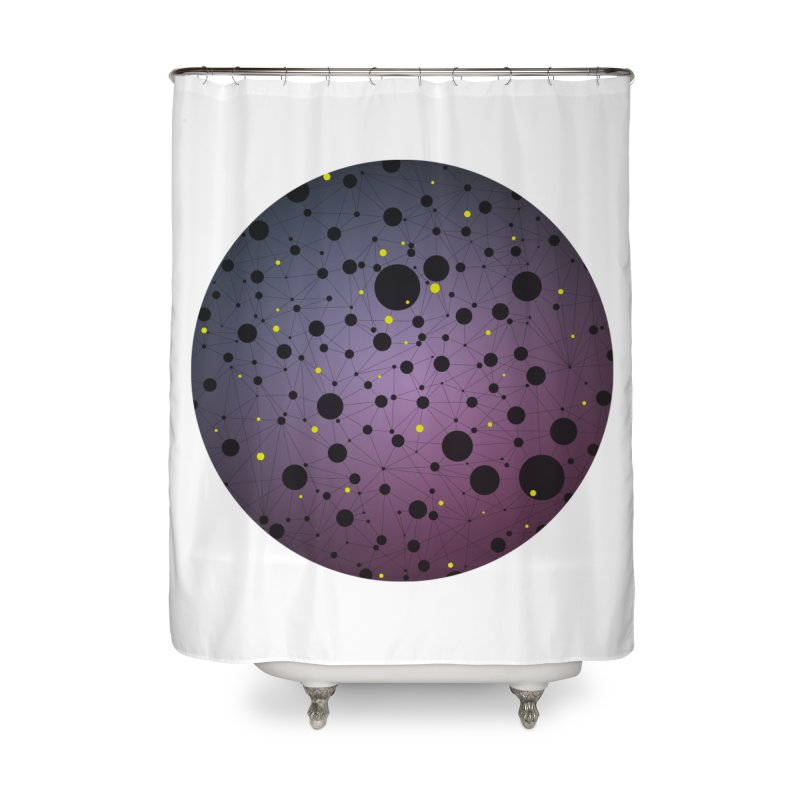 Atomic Circle Home Shower Curtain by virbia's Artist Shop
