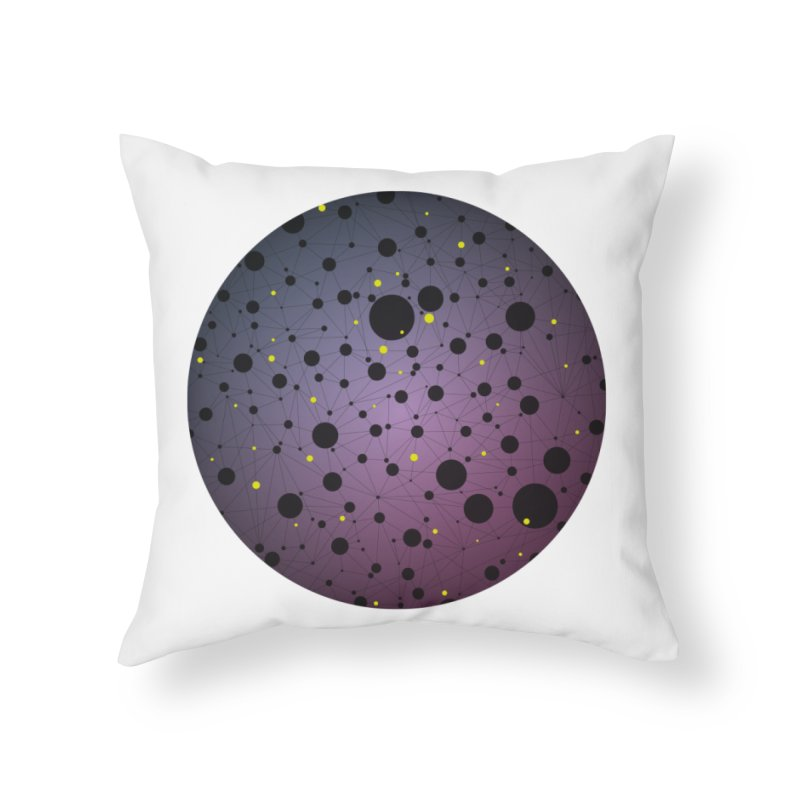 Atomic Circle Home Throw Pillow by virbia's Artist Shop