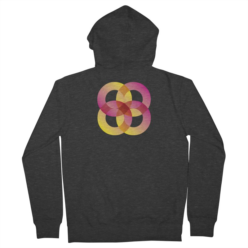 Power Rings Men's French Terry Zip-Up Hoody by virbia's Artist Shop
