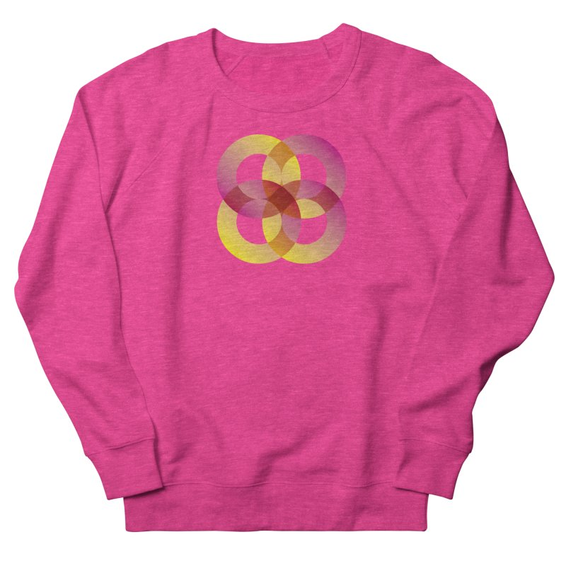 Power Rings Women's French Terry Sweatshirt by virbia's Artist Shop