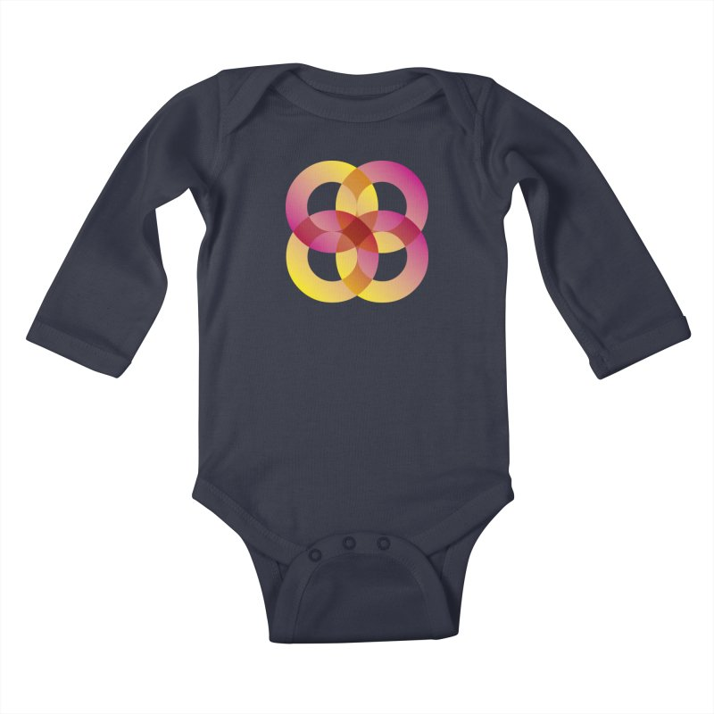 Power Rings Kids Baby Longsleeve Bodysuit by virbia's Artist Shop