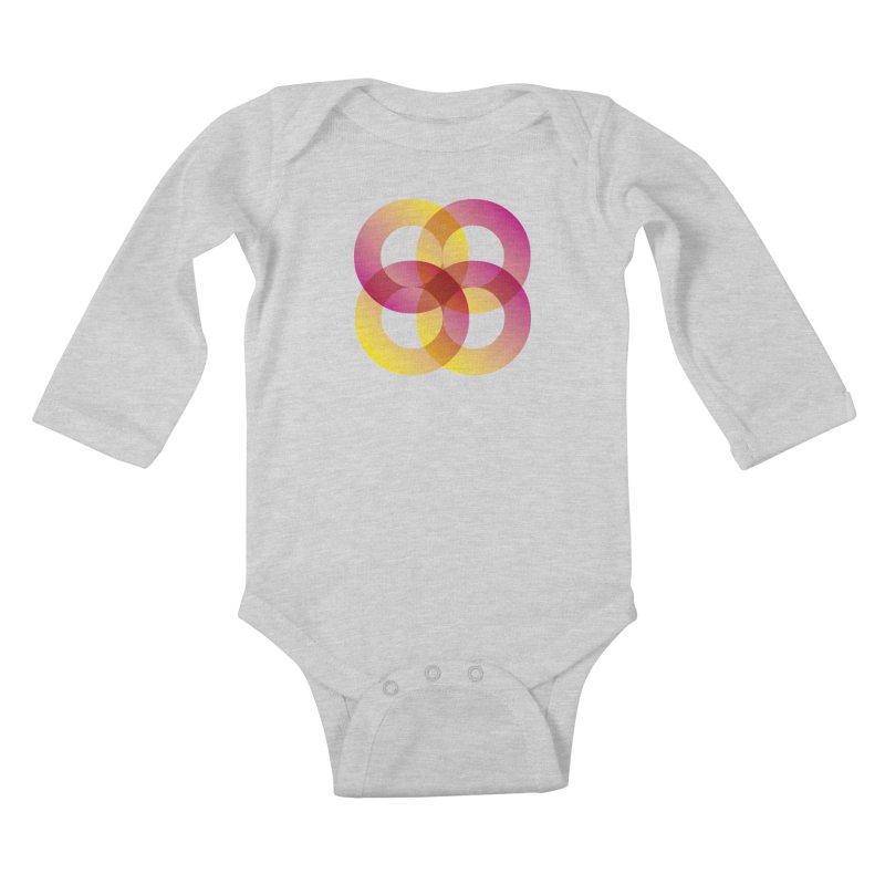 Power Rings Kids Baby Longsleeve Bodysuit by virbia's Artist Shop