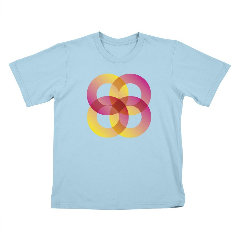 Power Rings Kids T-Shirt by virbia's Artist Shop