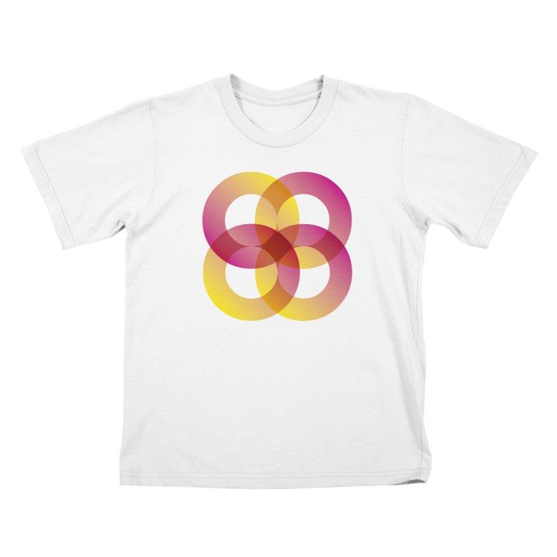 Power Rings Kids T-Shirt by virbia's Artist Shop