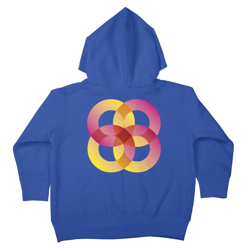 Power Rings Kids Toddler Zip-Up Hoody by virbia's Artist Shop