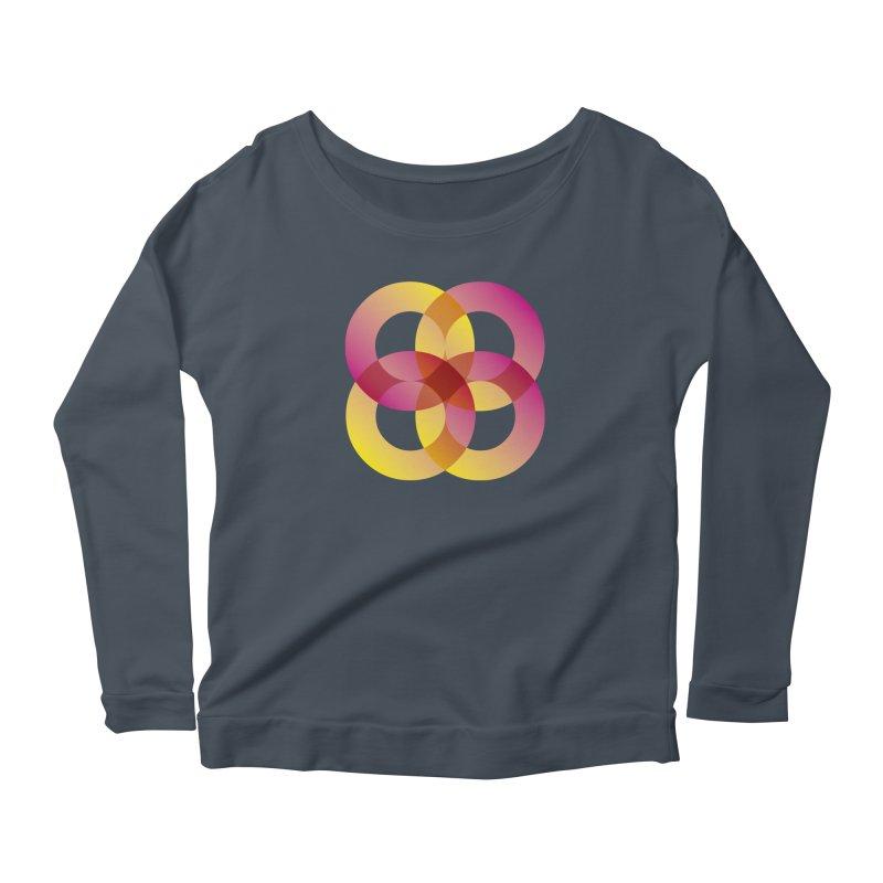 Power Rings Women's Scoop Neck Longsleeve T-Shirt by virbia's Artist Shop