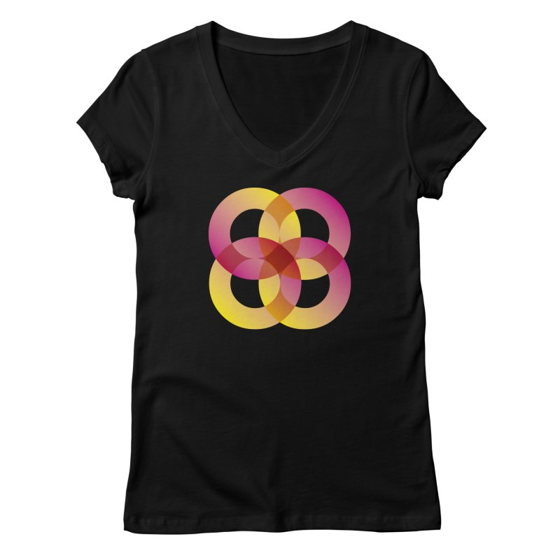 Power Rings Women's V-Neck by virbia's Artist Shop