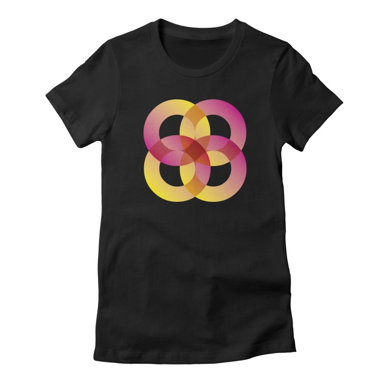 Power Rings Women's Fitted T-Shirt by virbia's Artist Shop