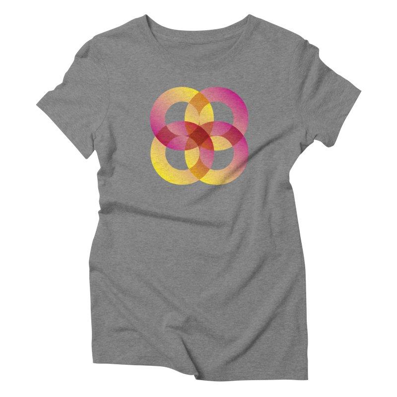 Power Rings Women's Triblend T-Shirt by virbia's Artist Shop