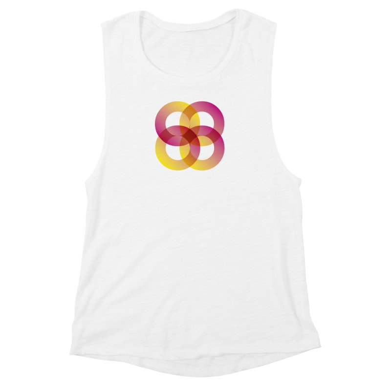 Power Rings Women's Muscle Tank by virbia's Artist Shop